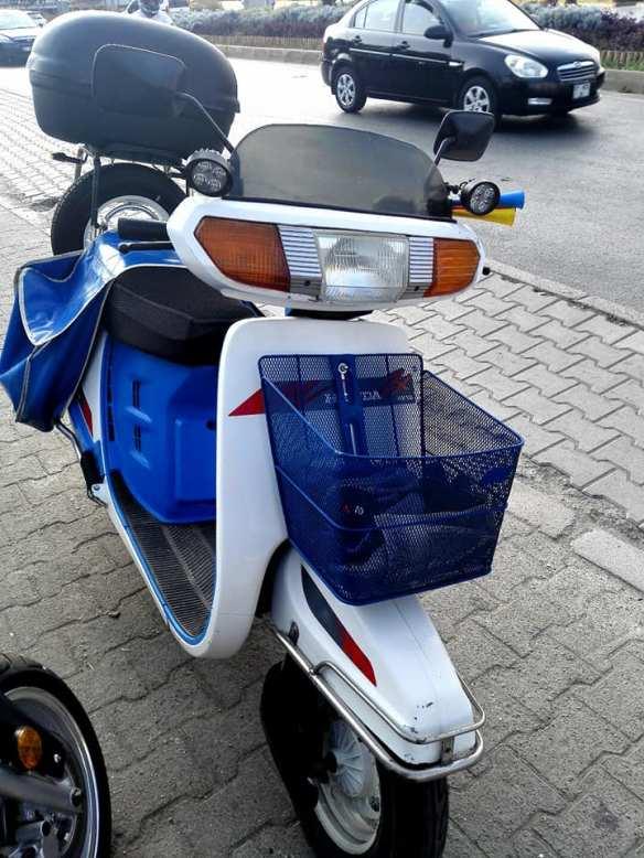 blauer Roller